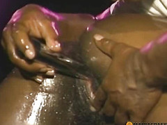 Black babe sucking dick from a guy