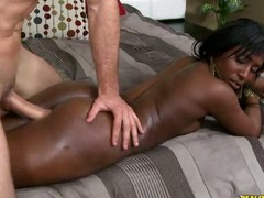 Check out this ebony hottie getting nailed hard.