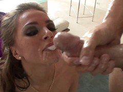 Gorgeous Anal Brunette Tori Black Gets Ass Fucked and Facialized