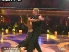 Ebony Handsomeness Cheryl Burke Dancing In a Revealing Black Dress