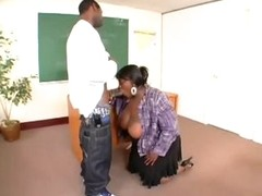 Beamy black teacher nailed by student