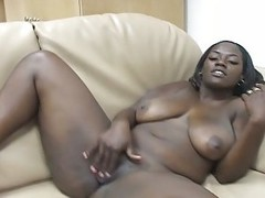 Ebony babe turn on this big black dick hot